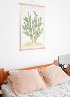 Pastel cactus painting
