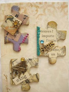 Altered Puzzle Pieces | by Donetta's Beaded Treasures