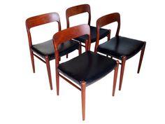 Four 4 J.L. Moller Danish Teak Dining Chairs by MostlyDanishModern