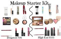 Makeup Starter Kit (Drugstore version and High End version) - #makeupkit #drugstore #makeup