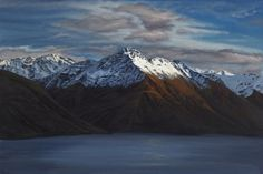 Limited Edition Giclee Print - 'Walter Peak' - x x Nz Art, Country Farm, Limited Edition Prints, New Zealand, Giclee Print, Art Gallery, Around The Worlds, Stretcher Bars, Mountain