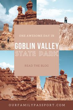 Goblin Valley is the perfect southern Utah travel destination for families. Click here for the perfect one day itinerary to Goblin Valley State Park. #goblinvalley #familytravel #hikingwithkids #familyadventure | goblin valley state park with kids | goblin valley state park | goblin valley hikes|goblin valley state park utah | goblin valley itinerary | southern utah travel | utah hikes with kids | Cool Places To Visit, Places To Travel, Travel Destinations, Goblin Valley, Travel Inspiration, Travel Ideas, Travel Tips, Us National Parks, Road Trip Usa