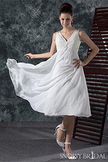 Tea Length Wedding Dresses - W0645