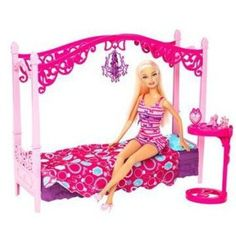 Shop for Barbie dolls and toys and find fab fashions, playsets and fashion dolls. Browse Barbie dolls and toys sparkling with pinktastic fun in the Barbie toys collection including dollhouses, Barbie& Dreamhouse, fashions and doll accessories. Barbie Bedroom, Glam Bedroom, Bedroom Sets, Dollhouse Accessories, Barbie Accessories, Barbie Real, Barbie Furniture, Bedroom Furniture, Furniture Sets