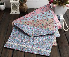 4pcs/lot New vintage dots flower lace series A4 documents file bag File folder stationery Filing Production Wholesale