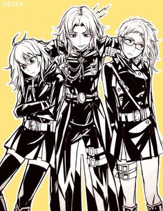 Gender-bent Yuu, Guren, and Kimizuki? I THINK YES.