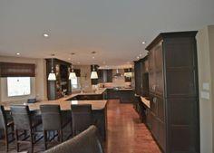 chocolate dark brown stained kitchen cabinets   Stunning Dark Stain Cabinets With Stone Countertops   Mylen
