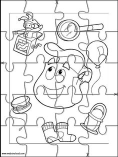 Printable jigsaw puzzles to cut out for kids Dora the Explorer 40 Coloring Pages