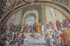 The School of Athens, in the Vatican museums (click to find out how to travel there virtually!)
