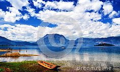 The Lugu Lake - Download From Over 26 Million High Quality Stock Photos, Images, Vectors. Sign up for FREE today. Image: 33216774