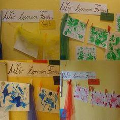 Farben sind für die Kleinkinder in der Krippe faszinierend. Daher eignet sich das Thema als Projekt für Kinder unter 3 Jahren.