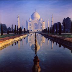 Taj Mahal - India ❤ liked on Polyvore featuring backgrounds, india, photos, pictures and pics