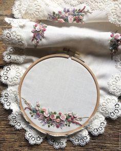 Provence flowers – купить или заказать в интернет-магазине на Ярмарке Мастеров | Хлопковая салфетка украшена вышивкой в…