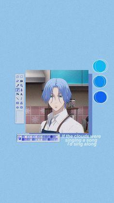 Langa Cook!! #anime #wallpaper #man #boy #garoto #blue #azul #cabelo #hair #otaku #cooking