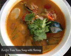 Authentic Tom Yum Soup recipe - http://www.hithaonthego.com/tom-yum-soup-shrimp/ #recipe #food #thailand