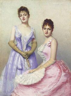 The Debutantes by Marta Aronssohn-Danzig, 1889