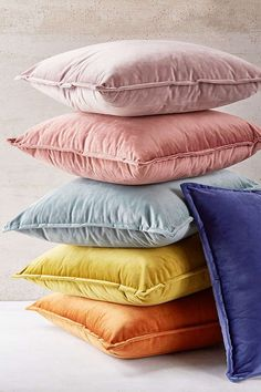 Slide View: 1: Velvet Throw Pillow