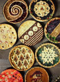 Christmas Desserts, Christmas Baking, Christmas Pies, Merry Christmas, Desserts Français, Pie Crust Designs, Thanksgiving Cupcakes, Pies Art, Impressive Desserts