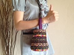 Lovely Square Handbag embroidery of the Hilltribes Thailand