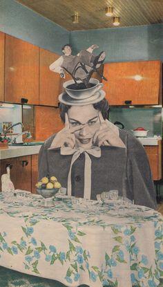 # Virgeeknie Handmade Collage Art by Virginie Bassemayousse.