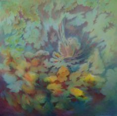 Fifi 70x70cm : peinture à l'huile sur toile