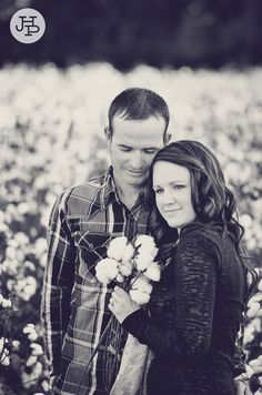 cotton field, engagement photography by J.Haltam Photography