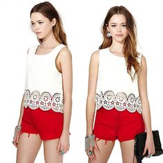Cheap blouse sweater, Buy Quality shirt directly from China shirt classic Suppliers: Item: Sweet Lady Girls Chiffon Shirt Vest Sleeveless Floral Tank Cropped Tops BlouseCondition: 100% Brand New and High