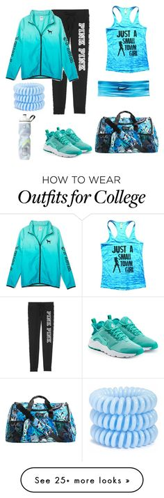 """""""GYM"""" by alexisdietrich on Polyvore featuring Vera Bradley, NIKE, Victoria's Secret and Invisibobble"""