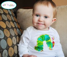 Very Hungry Caterpillar party: t-shirt applique