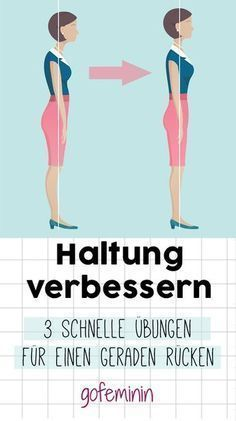 Better posture and less pain: The 3 best back exercises .- Bessere Haltung und weniger Schmerzen: Die 3 besten Rückenübungen Stop the crooked back! These three quick exercises will improve your attitude! Fitness Workouts, Yoga Fitness, Fitness Motivation, Sport Fitness, Health Fitness, Training Fitness, Health Club, Physical Fitness, Good Back Workouts