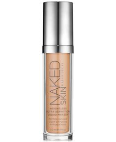 It feels like wearing nothing, yet Urban Decay's Naked Skin Liquid Makeup transforms your complexion. Skin looks natural, illuminated and bright with a luminous demi-matte finish: like the beautiful s