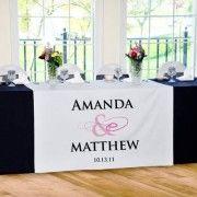 Chemin de table personnalise table des mariés