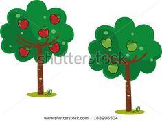 Apple Tree Stock Vectors & Vector Clip Art   Shutterstock