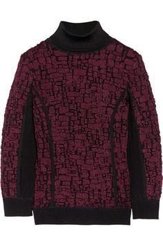 Nina Ricci|Stretch cloqué-knit turtleneck sweater|NET-A-PORTER.COM