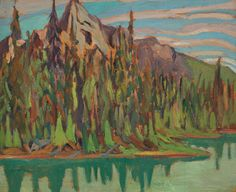 Frederick Banting - Lake in the Rockies x Oil on board Frederick Banting, Oil, Board, Painting, Inspiration, Biblical Inspiration, Painting Art, Paintings, Painted Canvas