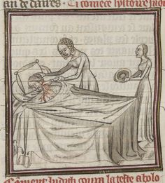 Medieval Bed, Medieval Life, The Bitter End, Beauvais, Two Heads, Long Pillow, Plain Dress, Medieval Manuscript, Illustrations