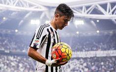 Paulo Dybala, match, footballers, ball, Juventus, football stars