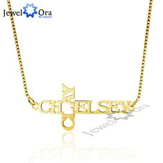 DIY 2 Names Engraved Cross 925 Sterling Silver Necklace Personalized Name Pendant & Necklace Birthday Gift (JewelOra NE101552)