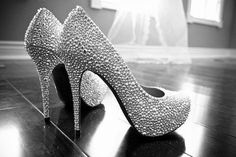 Sliver Crystal wedding shoes bridal shoes sparkly by wearlifeshow