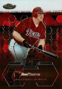 2003 topps finest jim thome #45 baseball card phillies.