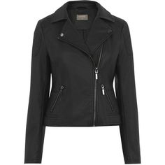 Oasis Faux Leather Biker Jacket (230 RON) ❤ liked on Polyvore featuring outerwear, jackets, black, vegan leather jacket, vegan motorcycle jacket, motorcycle jacket, long sleeve jacket and asymmetrical zip jacket