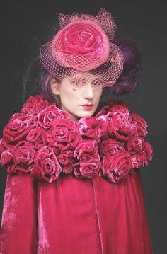 French Velvet Coat & Hat