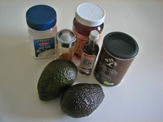 6 ingredients ready to roll for our deliciously healthy chocolate mousse recipe. Find more here...