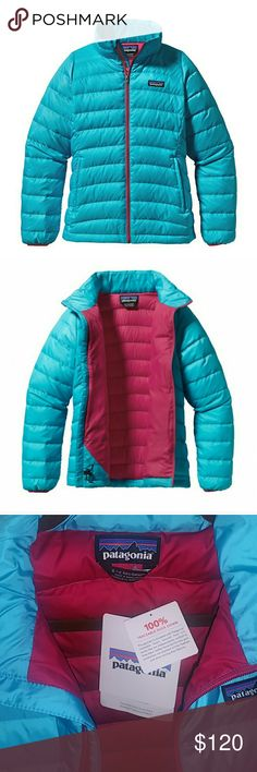 Girl's Patagonia Down Sweater Jacket Small size 7-8 BNWT. Color is no longer available through manufacturer. This jacket is warm, compressible. Insulated with traceable down. Birds that supply this are NOT force-fed or live-plucked! Learn more about this wonderful company and what they are doing to change our planet. This jacket is best quality you can give your child. Patagonia Jackets & Coats