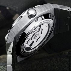 Men's Mechanical Automatic Wristwatch – Precise Automatic mechanical watch. for accurate time keeping. – Japan NH36A fully automatic mechanical movement. – 316L Stainless steel case and Stainless steel watch strap,Sapphire glass. – Waterproof at a depth of 100M. Watch Bands, Geek Watches, Watches For Men, Ap Royal Oak, Waterproof Watch, Watch Model, Mechanical Watch, Stainless Steel Watch, Glass