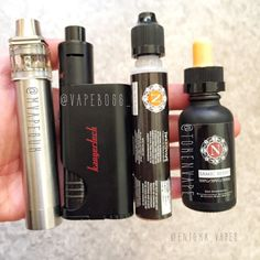 Morning #hancheck reveals some amazing goodies today!  I've got the ICE3 from @mvapesuk running some @tokenvape Coil Nut Flakes and I've got the amazing Dripbox from @vapeboss_ running Samic Berry from @tokenvape  This is the stuff of what mornings should