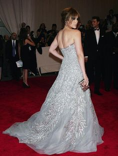 Jennifer Lopez at to the Costume Institute Gala in 2010