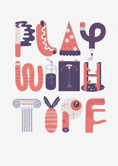 """Play With Type"" Stop Motion by Jose Miguel Méndez. #typography"
