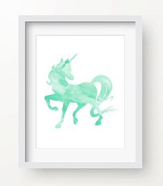 ********THIS IS AN INSTANT DOWNLOAD*******  Mint Green Unicorn, perfect for your nursery or to add a whimsical touch in any room! This is a