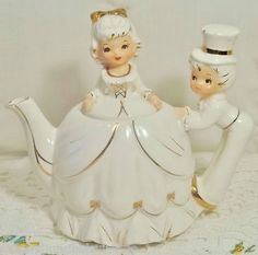 Vintage musical tea pot.